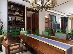 鲁能领秀公馆三室二厅120平装修效果图