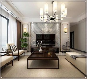 乐湾国际三室二厅全包装修效果图