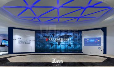 浙江乌镇大数据发展中心展厅300平全包装