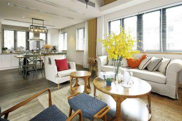 蔚蓝卡地亚别墅现代简约三室二厅装修效果图