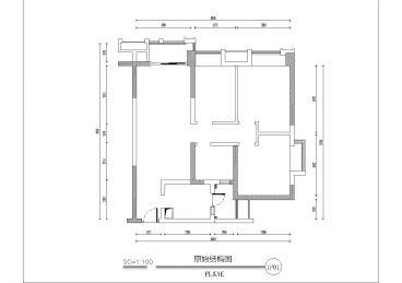 华侨城原岸二期三室一厅75平装修效果图