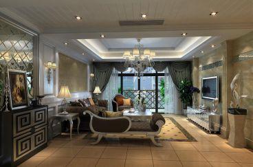 鹭岛国际三室一厅简欧装修效果图