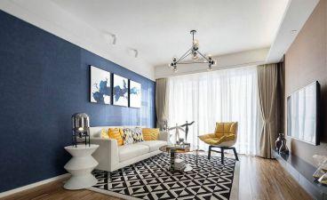 华地翡翠蓝湾99平三室一厅装修效果图