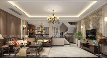嘉业阳光城别墅五室二厅美式装修效果图