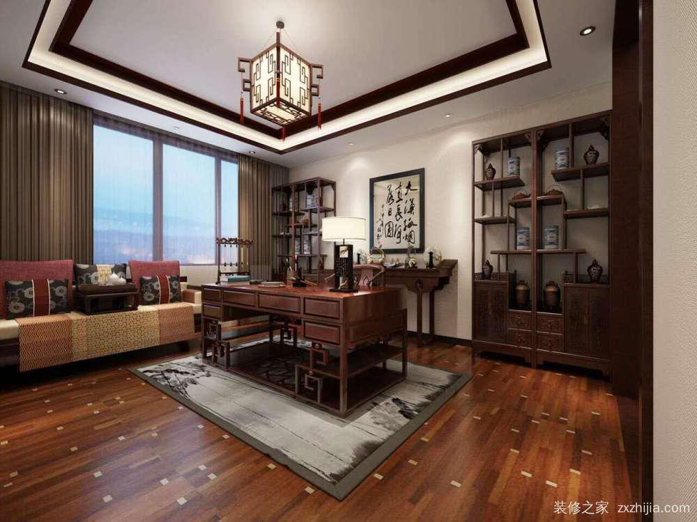 锦城国际 中式新中式100平装修效果图