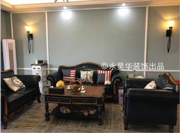 光耀翡翠湾美式三室二厅装修效果图