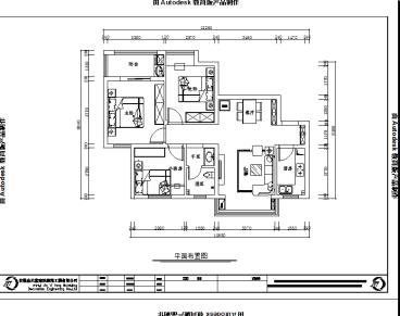 尚泽紫金公馆二室二厅全包装修效果图