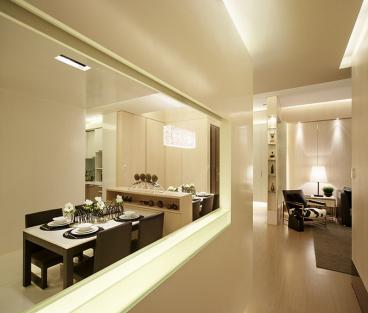 华润橡树湾现代简约二室一厅装修效果图