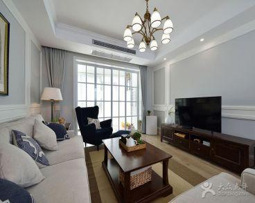 港湾江城美式三室二厅装修效果图