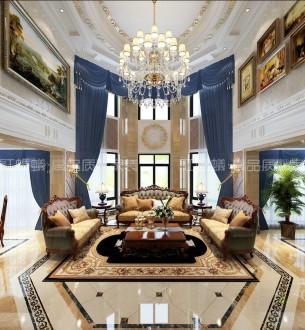 恒基富荟山六室三厅欧式古典装修效果图