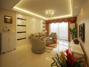 师大现代花园现代简约三室一厅装修效果图