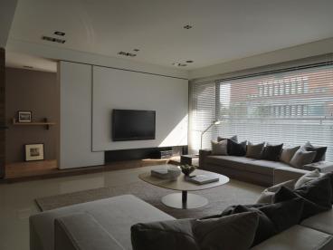 巴黎都市120平三室一厅装修效果图