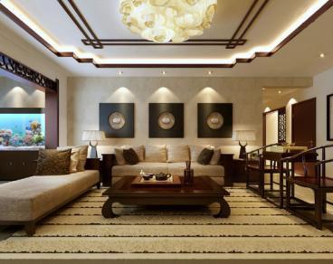 保利国际三室二厅128平装修效果图