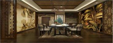 国福现代城东南亚三室二厅装修效果图