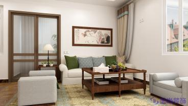 科尔世纪外滩二室二厅113平装修效果图