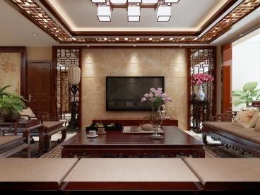 龙湖江与城天琅四室二厅中式装修效果图