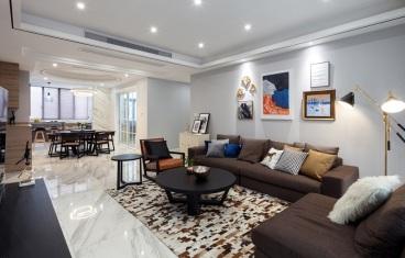 白桦林印象三室二厅130平装修效果图