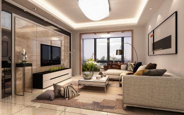 锦绣华庭75平二室二厅装修效果图