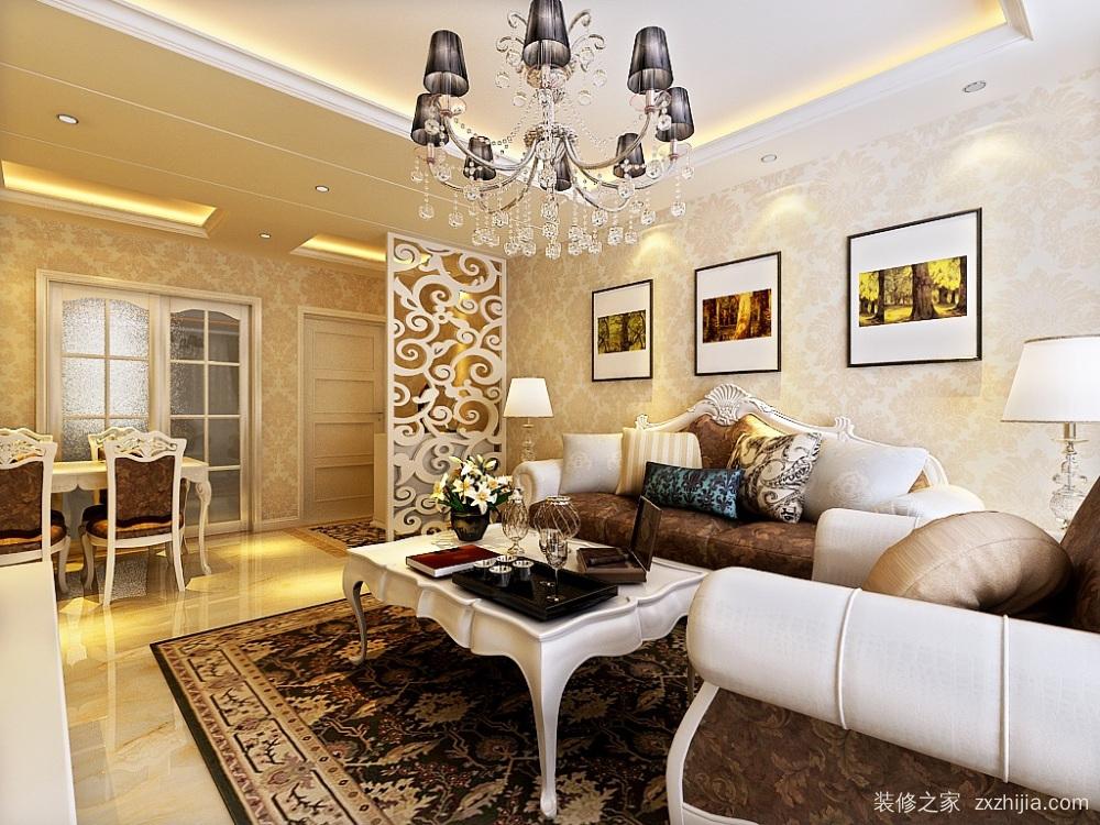 水润年华85平二室一厅装修效果图