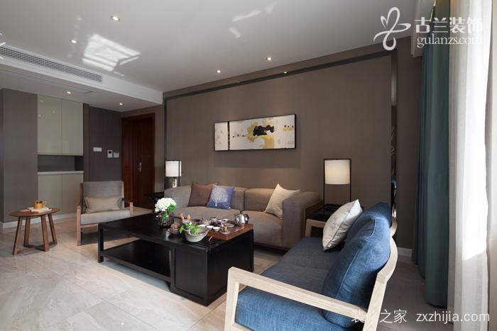 水月秦淮现代简约三室二厅装修效果图