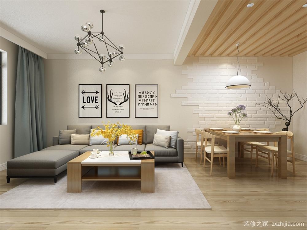 格调绮园三室二厅88平装修效果图