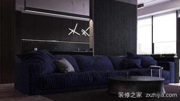 汉嘉柒号95平三室一厅装修效果图