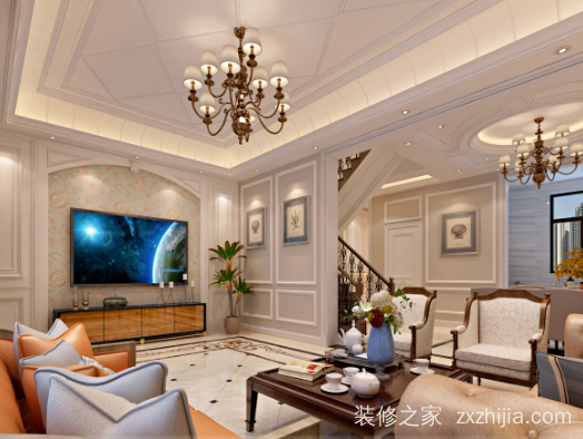 红星威尼斯260平五室二厅装修效果图