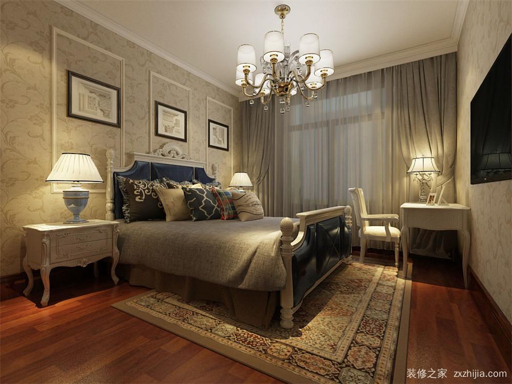 恒益隆庭二室二厅半包装修效果图  卧室          恒益隆庭欧式古典图片