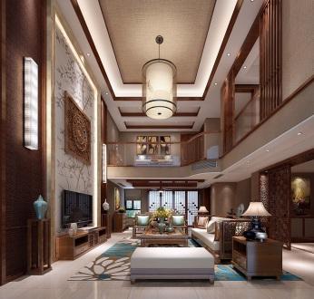 万科温馨家园中式四室二厅装修效果图