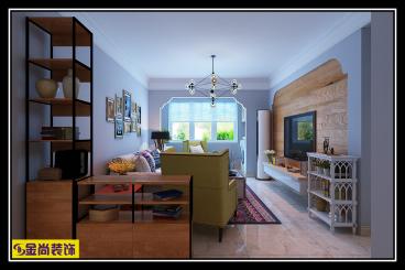 北大时代二室二厅现代简约装修效果图