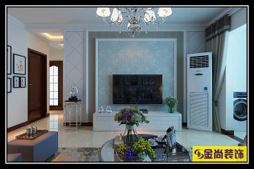 中海华山珑城现代简约四室二厅装修效果图