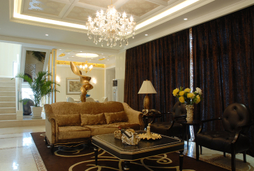金色屋顶半包八室三厅装修效果图