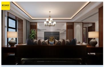 中式风格三室一厅全包装修效果图