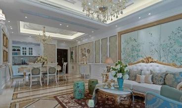 福星惠誉国际城三期三室二厅简欧装修效果图