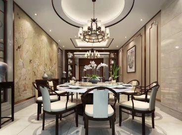 如皋自建别墅中式七室三厅装修效果图