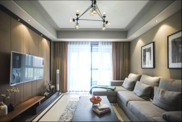 星怡花园110平三室二厅现代简约装修效果