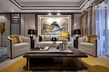 海德北岸城三室二厅102平中式装修效果图
