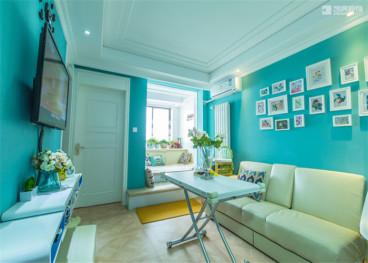 亚东国际公寓56平全包装修效果图