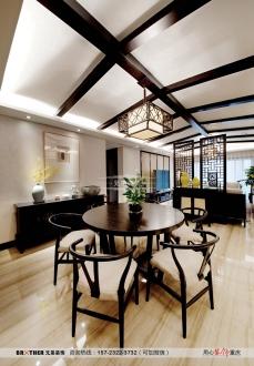棕榈泉悦江国际五室二厅新中式装修效果图