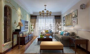 新加坡花园城109平三室二厅装修效果图