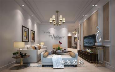 旭日上城二期95平三室二厅装修效果图