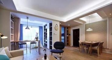 中国铁建山语城现代简约三室二厅装修效果图