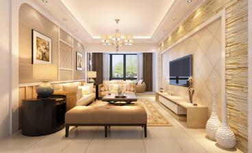 明园九龙湾小区三室二厅现代简约装修效果图