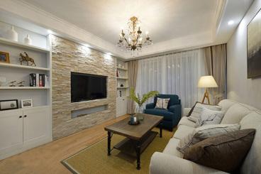 蓝色康园全包二室一厅装修效果图