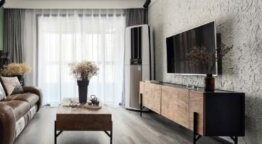 保利双子星二室一厅全包装修现代简约效果图