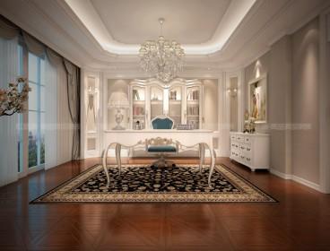 融侨观邸别墅中式五室三厅装修效果图