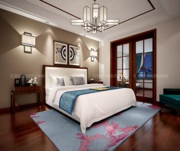 新湖仙林翠谷别墅六室三厅中式装修效果图