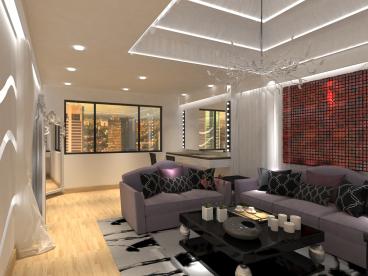 麒麟大厦现代简约零室二厅装修效果图
