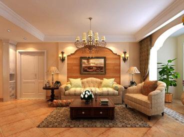 阳光城三室二厅美式装修效果图