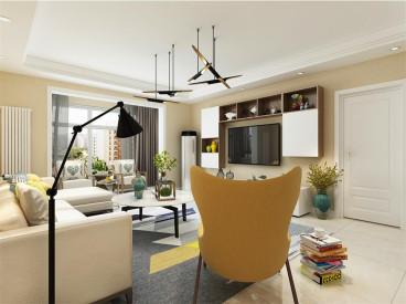 金旺家园120平二室二厅装修效果图